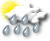 Partly Cloudy & Rainy Conditions